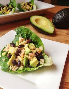 Southwestern Chicken Lettuce Wraps | www.chocolatewithgrace.com | #healthy #glutenfree #receipes #GF #avocado #