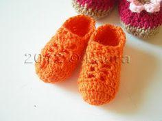 Laura diz: Crochet Baby Calçados