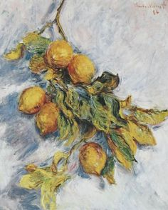 Lemons on a Branch by Claude Monet