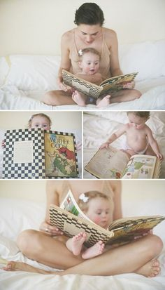 mother daughters, picture books and photo shoots
