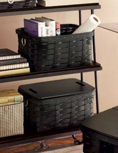 Longaberger black baskets