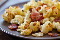 Roasted Cauliflower with Bacon & Garlic