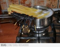 delicious pasta dinner - nailed it! funni stuff, laugh, funni ish, pasta dinner, cooking, humor, delici pasta, thing, cook pasta