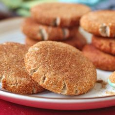 Healthy Snickerdoodles Cookies! You can't go wrong with cinnamon and sugar [refined sugar free, gluten free, vegan!]