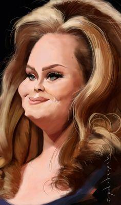 Caricatura de Adele.