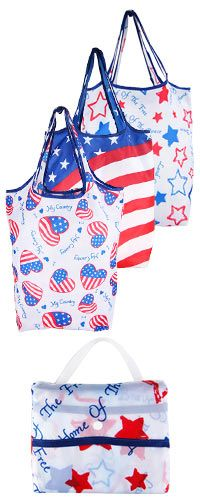 Patriotic Shopping Bags - Set of 3 at The Veterans Site