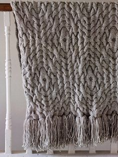 Ravelry: Geometric Cable Throw pattern by Ruth Cross