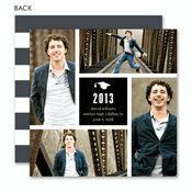 Grad Collage Blue Photo Card