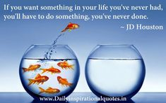 """""""if you want something in your life you've never had, you'll have to do something you've never done"""" - JD Houston"""