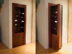 Secret door behind built-in case