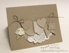 Hearts a Flutter Monochromatic Card