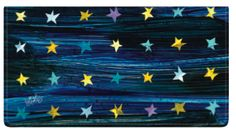 Checkbook Cover by Custom Direct- Personalized check available with artwork from Eric Carle's celestial theme. Available in Wallet Style & Side Tear checks.