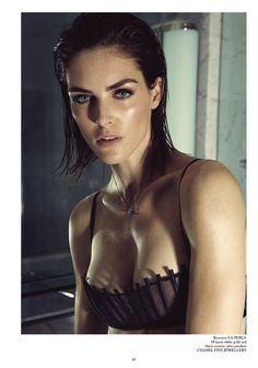 Hilary Rhoda Wears Lingerie for Glass Magazine by James Houston