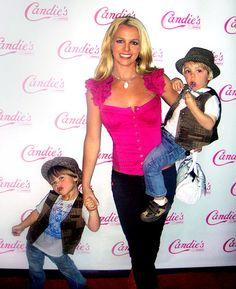 Beautiful Britney w/ Jayden James & Sean Preston sporting cute matching outfits! ♥