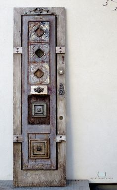 DIY antique old world style door for a kitchen pantry.