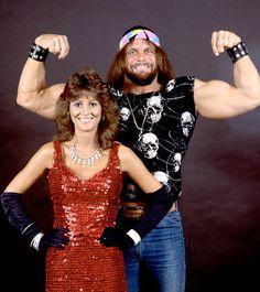 """Macho Man"" Randy Savage with Miss Elizabeth"