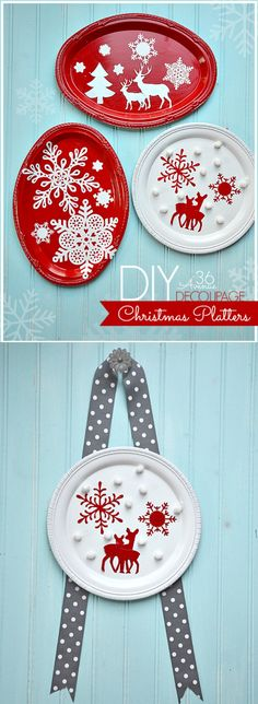 Festive DIY Christmas Platters... So easy and cute! #MSholiday