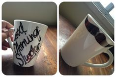 For a friends house warming gift. Sharpie, plain mug, 20mins in a 350 degrees oven and VOILA!!
