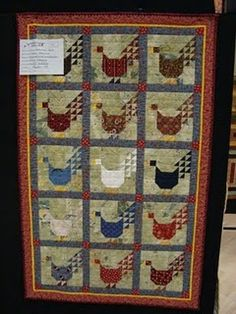 Love this chicken quilt