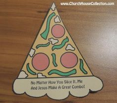 Pizza Printable Cutout Jesus Craft For Kids. With and without words. #pizza #crafts #printables #templates #kids #sunday #school