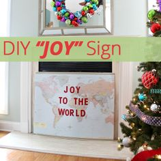 """Loving this #DIY """"Joy"""" sign for the #holidays! Super easy to make as well."""
