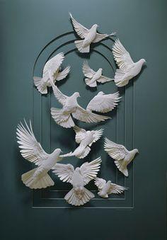 Birds in Flight-Paper Sculpture