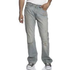 Levi's Young Men's 527 Low Rise Boot Cut Jean, Destructed Blue, 33x30 (Apparel)