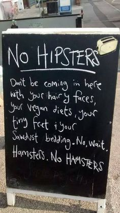LOL - no hamsters