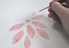 pointillism abstract flowers