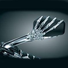KuryakynChrome Skeleton Hand Mirrors