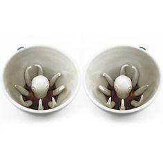 Octopus creature cup set.