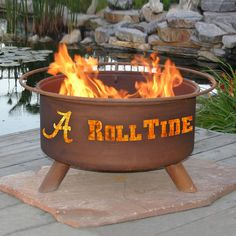 Patina Products F410 Alabama Roll Tide Fire Pit - Outdoor Living Showroom