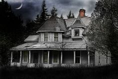 haunted houses, ghost stories, abandon hous, old houses, place, abandoned houses, victorian houses, front porches, island