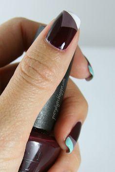 """""""Peeling nails"""" mani, cute!"""