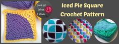 Iced Pie Squares Crochet Pattern Iced Pie Square Crochet Pattern
