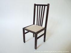 Doll Chair in 1/6 scale Blythe Barbie Bratz  by buildingIDEA