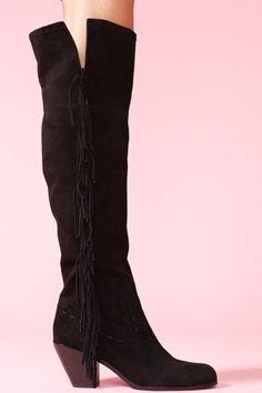 Luella Thigh High Boot - Black