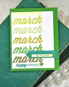 Happy Spring Card by Dawn McVey for Papertrey Ink (March 2014)