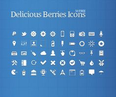 Delicious Berries Icons is a premium icon set containing 560 vector Photoshop shapes, perfect for apps or projects of any kind. You can download a preview of 50 icons for free.