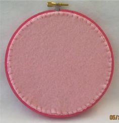 The Trouble with Crafting: Finishing a Hoop with Felt