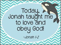 Jonah and the Whale Story Hour: Lesson plan with games, suggested stories, songs, crafts, and take-home activities!