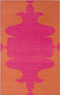Madeline Weinrib Pink & Orange Orleans Cotton Carpet