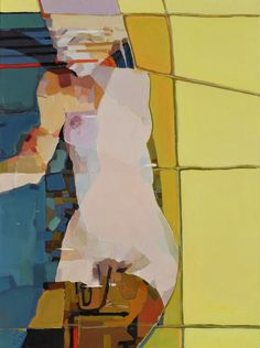 "Painterly sensual image from the hands of Melinda Matyas; Oil 2012 Painting ""Vertical Bridge"""