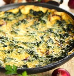 Secretly Delicious Spinach Pie - use any meat, cheese and veggie to make this fun dish - perfect for brunch or pack cold for lunch.