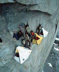 Cliff side camping.....OO