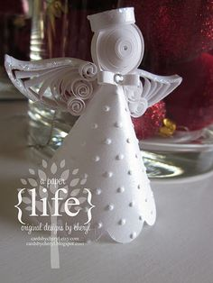 beautiful quilled angel para centro de mesa para la 1 comunion