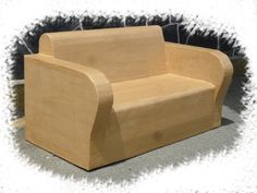 Muebles carton on pinterest cardboard furniture for Canape winson