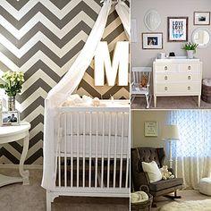 Molly Mesnick's Gray Chevron Nursery