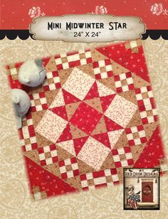 Mini Midwinter Star quilt kit by myreddoordesigns on Etsy, $25.00