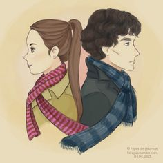 Molly and Sherlock. I don't ship Sherlolly, but this is cute.